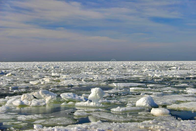 Mare di inverno fotografia stock libera da diritti