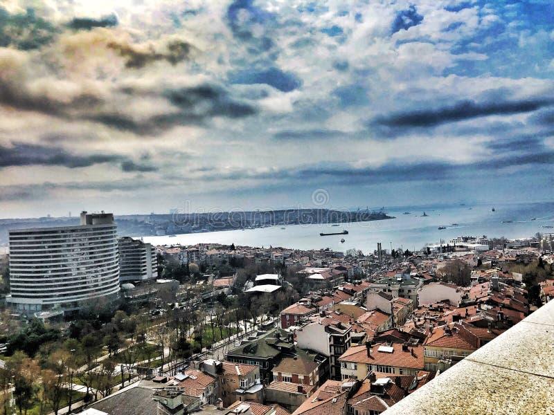 Mare di Marmara della città di Costantinopoli Europa immagini stock