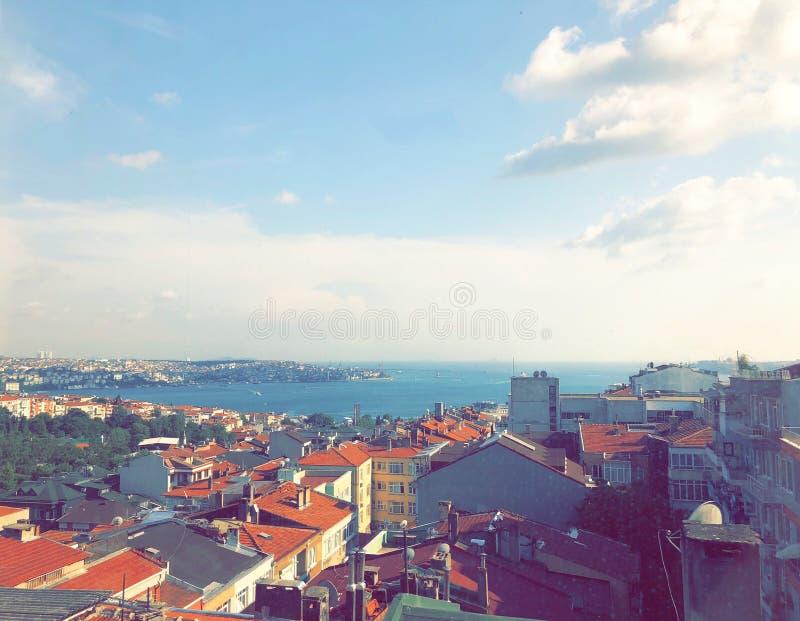 Mare di Marmara della città di Costantinopoli Europa immagini stock libere da diritti