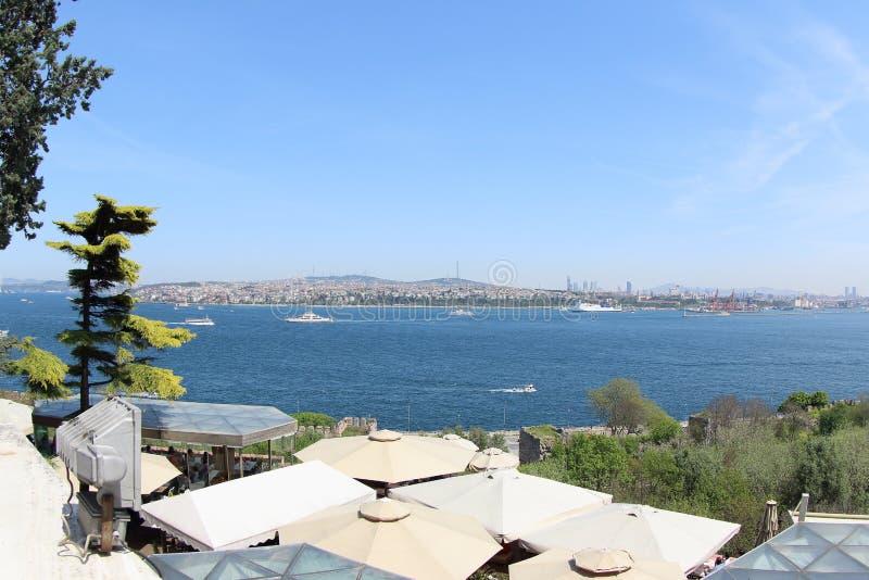 Mare di Marmara e la zona asiatica della Turchia fotografia stock libera da diritti