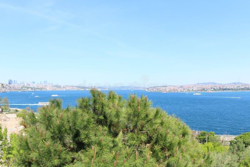 Mare di Marmara e la zona asiatica della Turchia fotografia stock