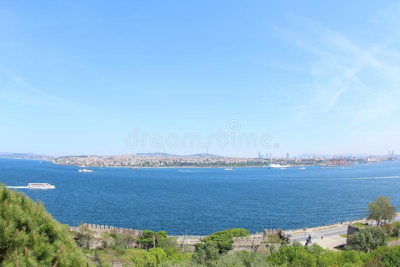 Mare di Marmara e la zona asiatica della Turchia fotografie stock