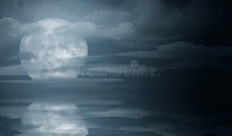 Mare di notte illustrazione vettoriale