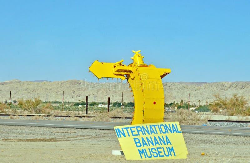 Mare di Salton: Museo della banana immagini stock
