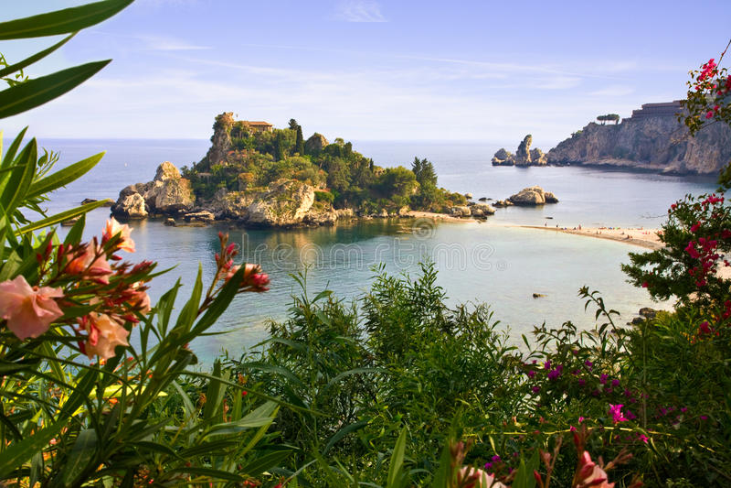 Mare di Taormina fotografie stock libere da diritti