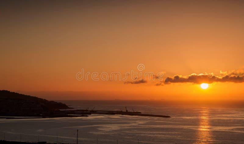 Mare di tramonto fotografia stock