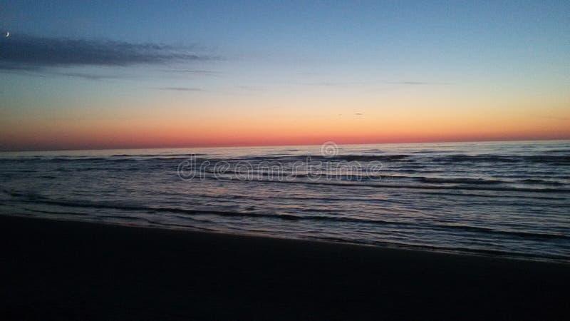 Mare di tramonto immagini stock