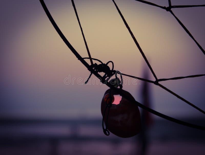 Mare di tramonto di Dreamcatcher immagine stock