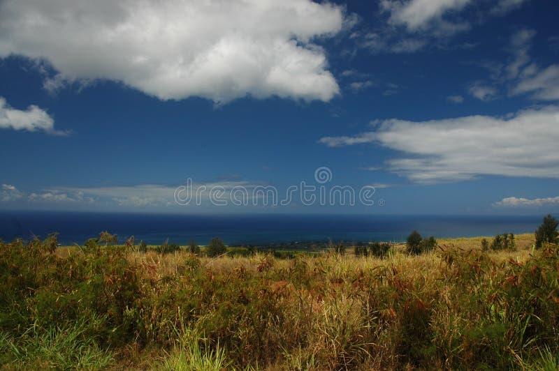 Mare e cielo dello sbarco del Kauai immagine stock