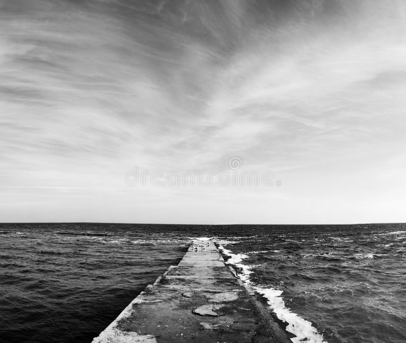 Mare e cielo di bellezza fotografia stock