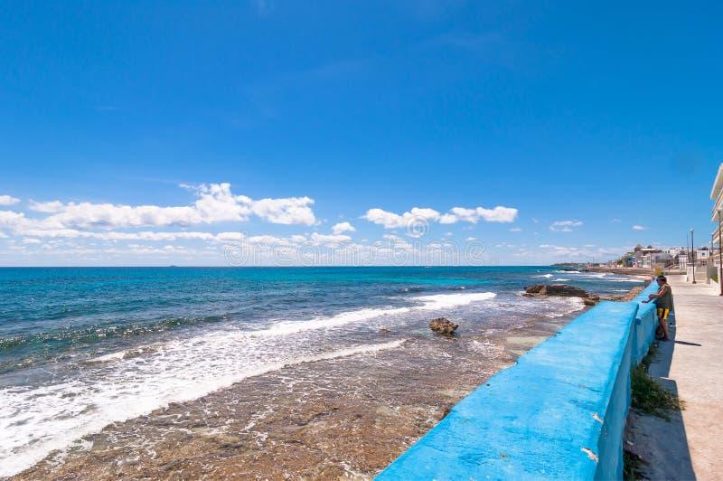 Mare e linea costiera tropicali in Isla Mujeres, Messico immagine stock libera da diritti