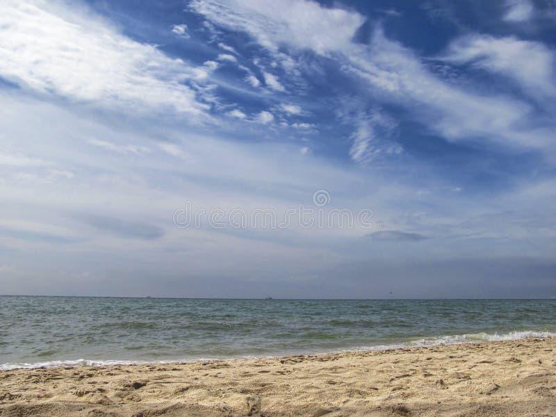 Mare e nubi fotografie stock