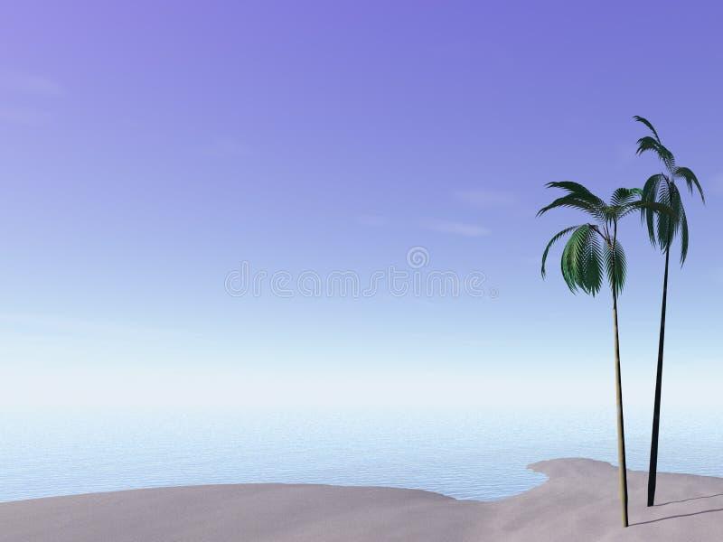 Mare e palme royalty illustrazione gratis