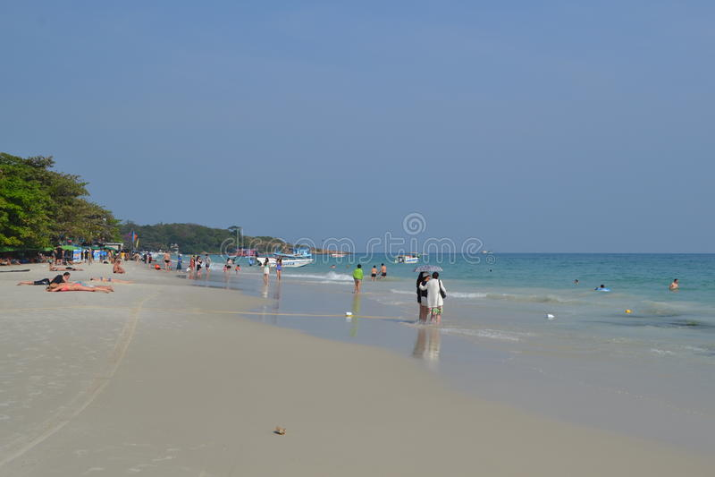 Mare e riva di Summet immagine stock
