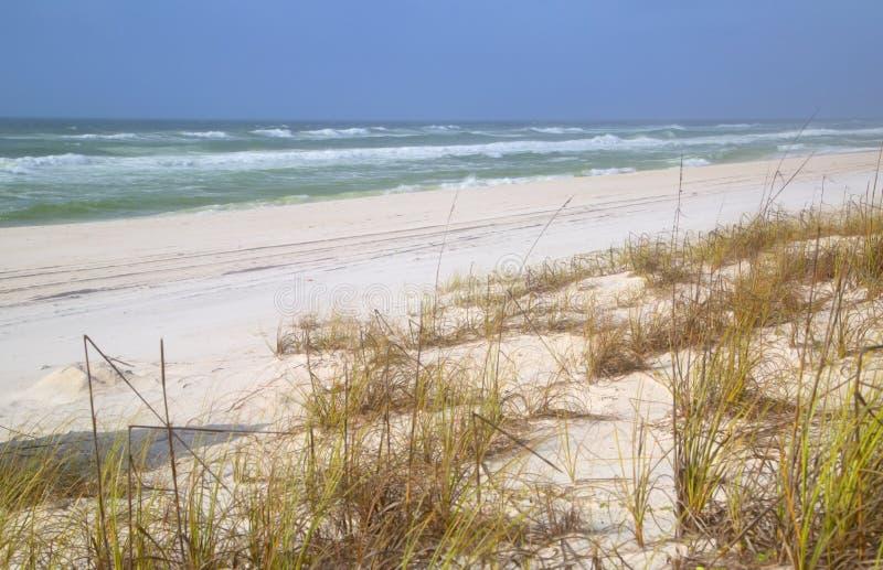 Mare e spiaggia sabbiosa fotografia stock libera da diritti