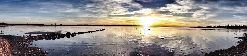 Mare in Estonia fotografie stock