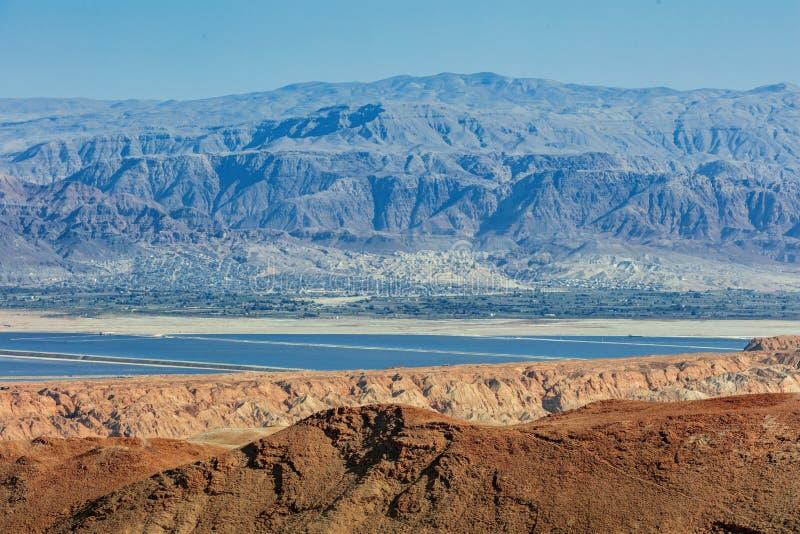 Mare guasto Vista dalla Cisgiordania all'est fotografia stock