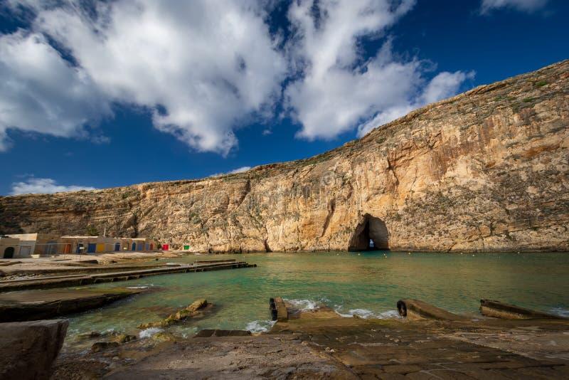 Mare interno, isola di Gozo, Malta immagini stock