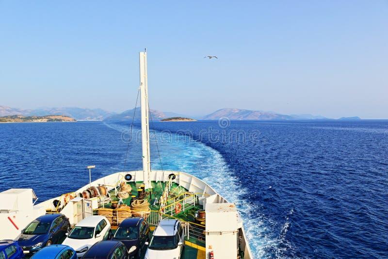 Mare ionico Grecia del traghetto fotografia stock libera da diritti