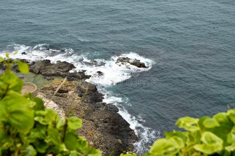 Mare ondulato in un'aria ventosa fotografia stock