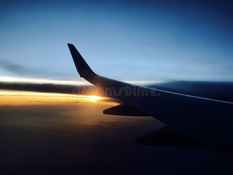 Mare piano della natura di tramonto del cielo immagini stock libere da diritti