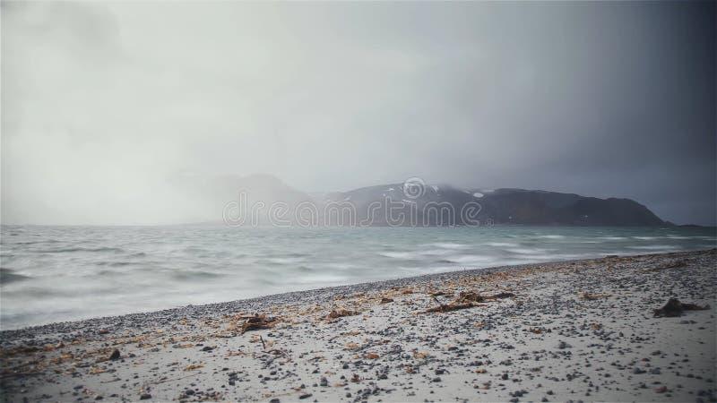 Mare piovoso immagine stock