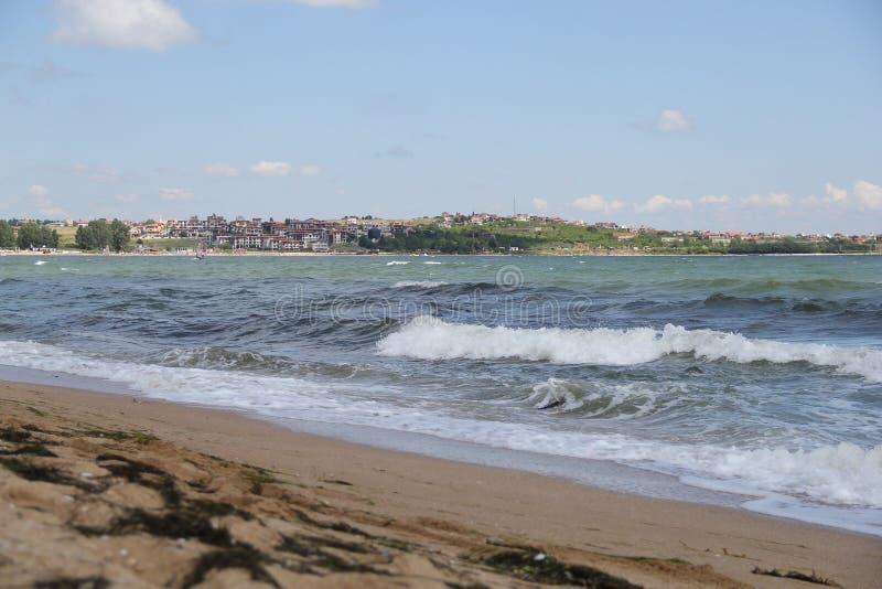 Mare, sabbia, onda, anno 2014 fotografie stock libere da diritti