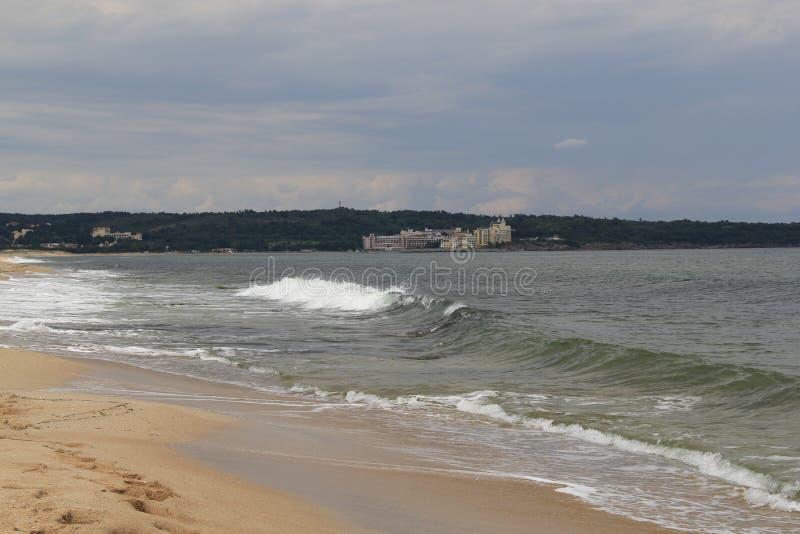 Mare, sabbia, onda, anno 2014 fotografia stock libera da diritti