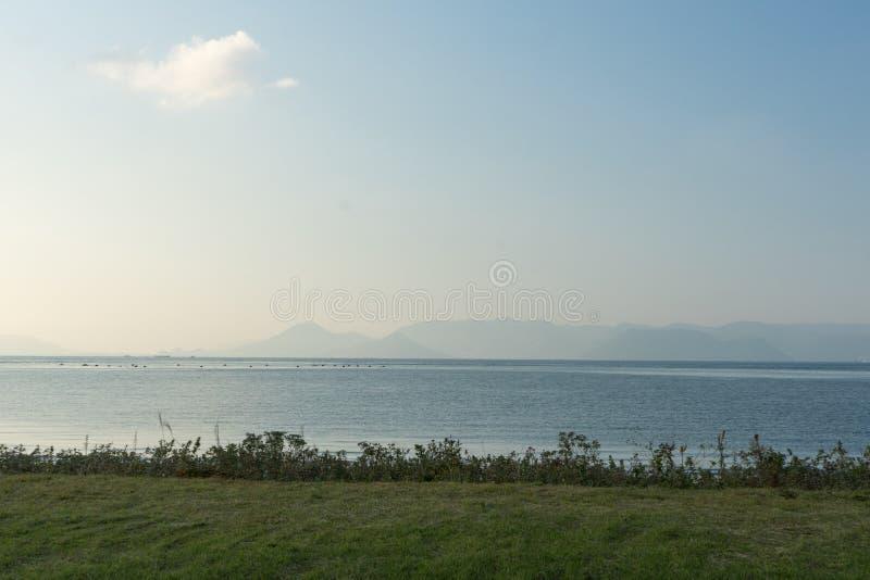 Mare Scape all'isola di Naoshima fotografia stock