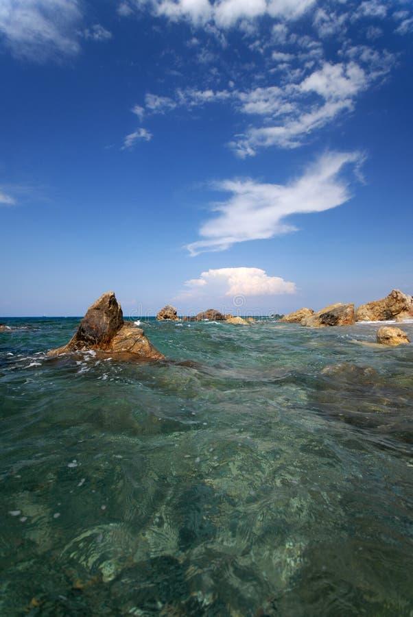 Mare in Sicilia immagine stock libera da diritti