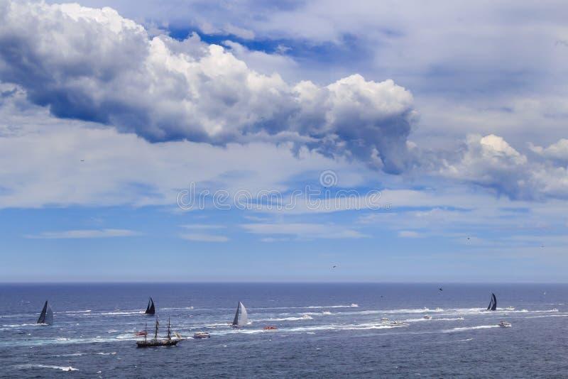 Mare Syd Hobart Leaders sotto la nuvola fotografia stock