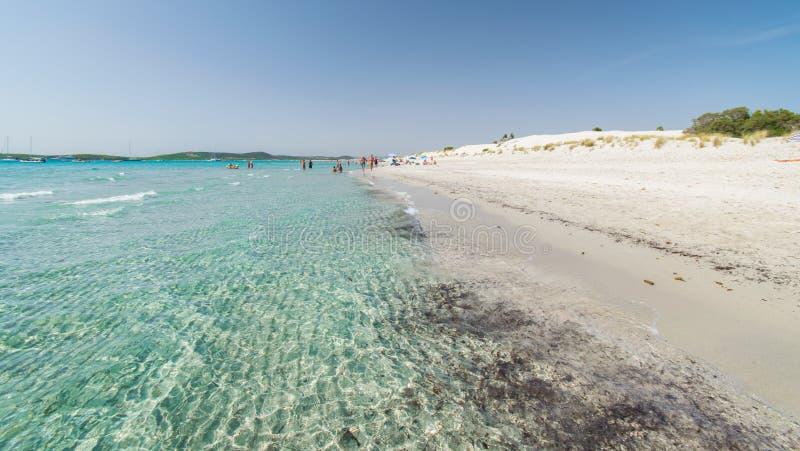 Mare trasparente ed acqua cristallina della Sardegna immagini stock