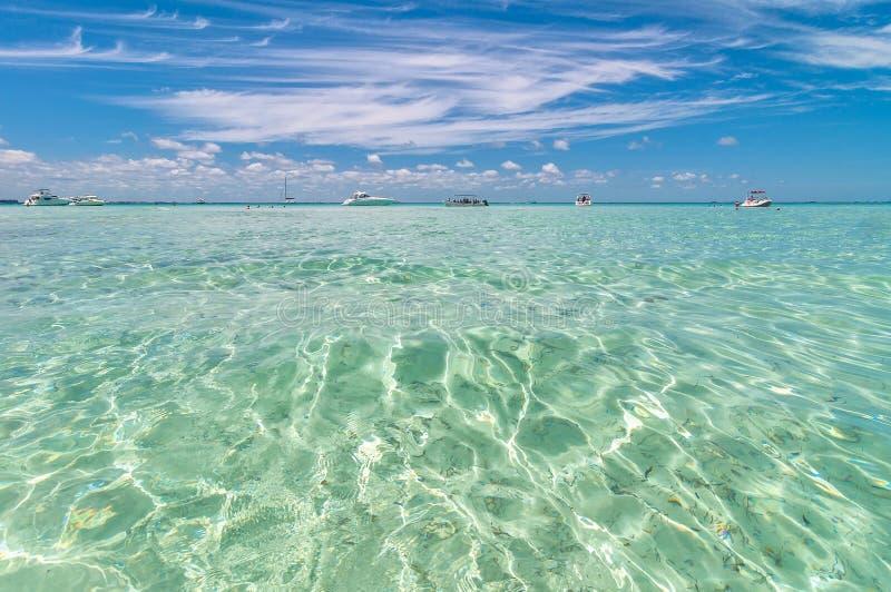 Mare tropicale in Isla Mujeres, Messico fotografia stock