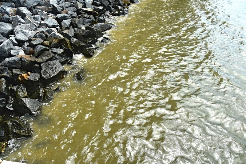 Marea del frangiflutti della baia di Chesapeake che entra fotografie stock libere da diritti