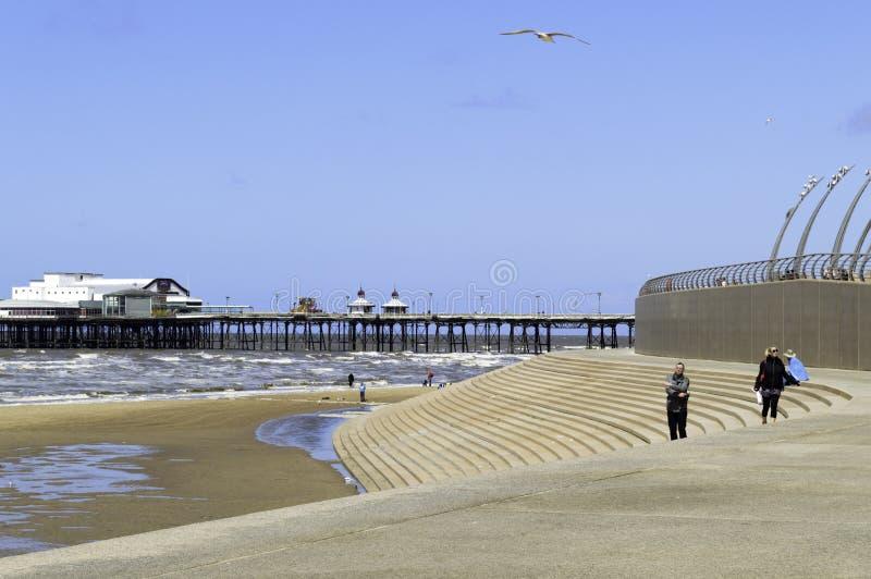 Download Marea Ricevuta A Blackpool Del Nord Immagine Stock Editoriale - Immagine di ricevuto, puntello: 55357899