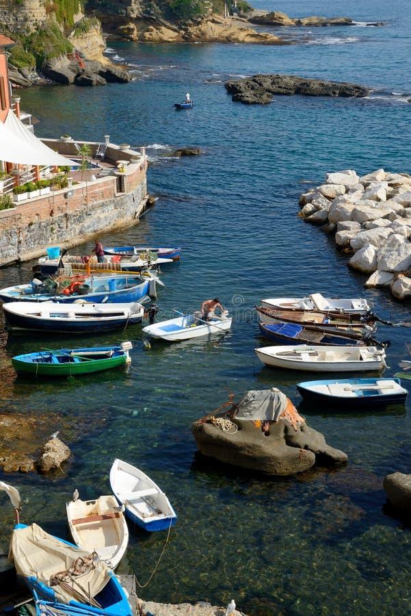 Marechiaro - Naples, Italien arkivbilder
