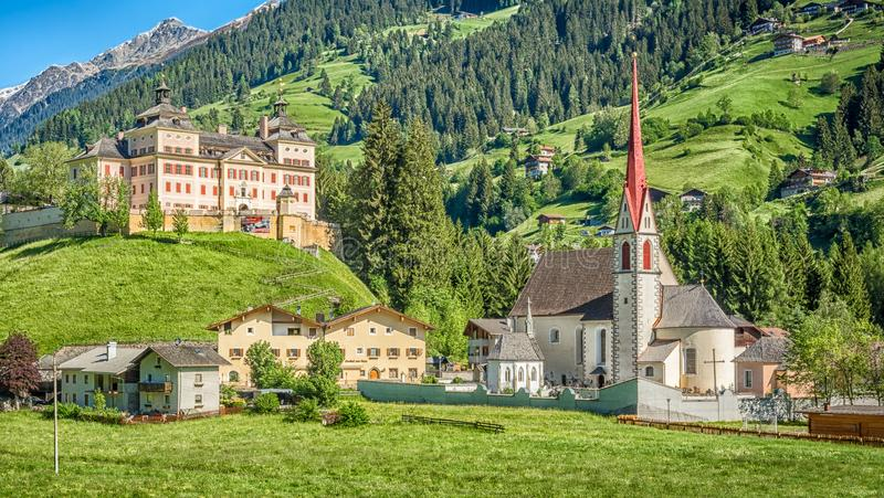 Mareit - Mareta (Racines - Ratching) village in Italy, south Tyrol stock photography