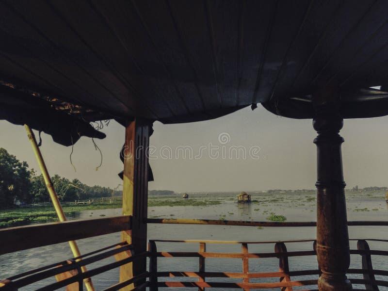 Mares à bord du Kerala de bateau-maison image stock
