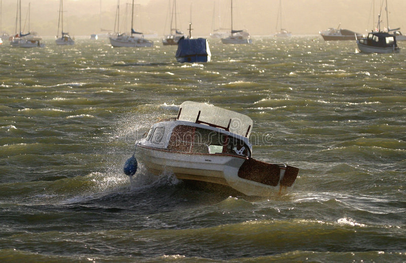 Download Mares Choppy foto de stock. Imagem de barco, poole, ofício - 60218