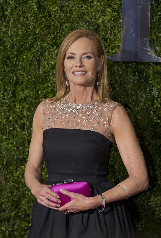 Marg Helgenberger på Tony Awards 2015 royaltyfri foto