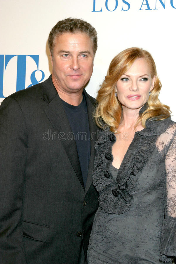 Marg Helgenberger, William Petersen royalty free stock images