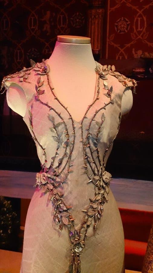 Margaery tyrell's wedding dress stock images