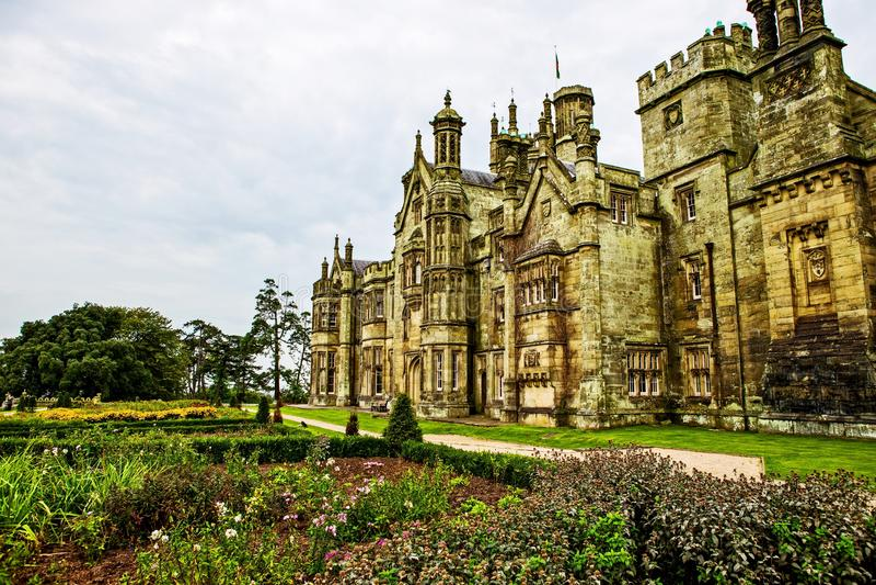 Margam城堡哥特式豪宅 库存图片
