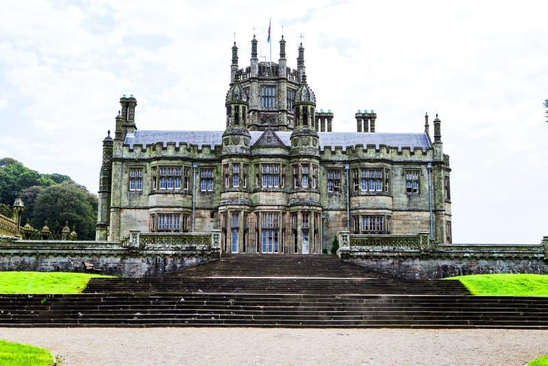 Margam城堡哥特式豪宅 免版税图库摄影