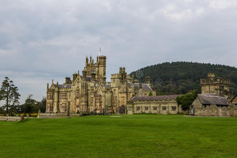 Margam城堡哥特式豪宅 免版税库存照片