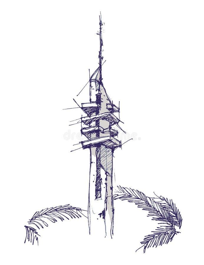 Marganit塔手图画剪影例证 库存照片