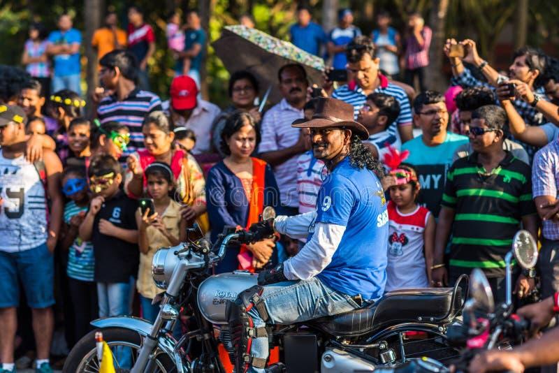 Margao Goa, India Feb 12 2018,/: Karnawałowi świętowania w Goa, India zdjęcie stock
