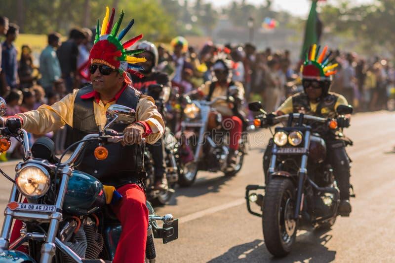 Margao, Goa/la India 12 de febrero de 2018: Celebraciones del carnaval en Goa, la India fotografía de archivo libre de regalías