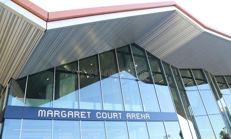 Margaret Absztyfikuje arenę podczas 2019 australianu open przy Australijskim tenisa centrum w Melbourne obrazy stock