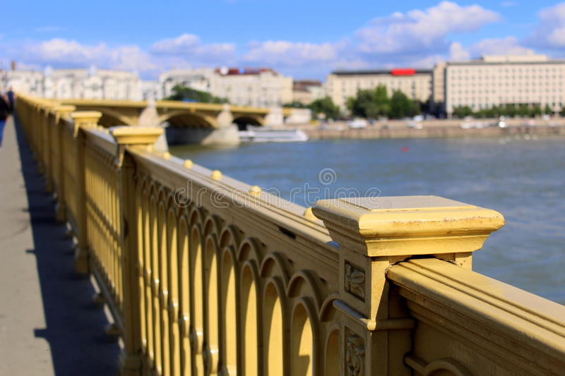 Margaret bridge in Budapest royalty free stock photos